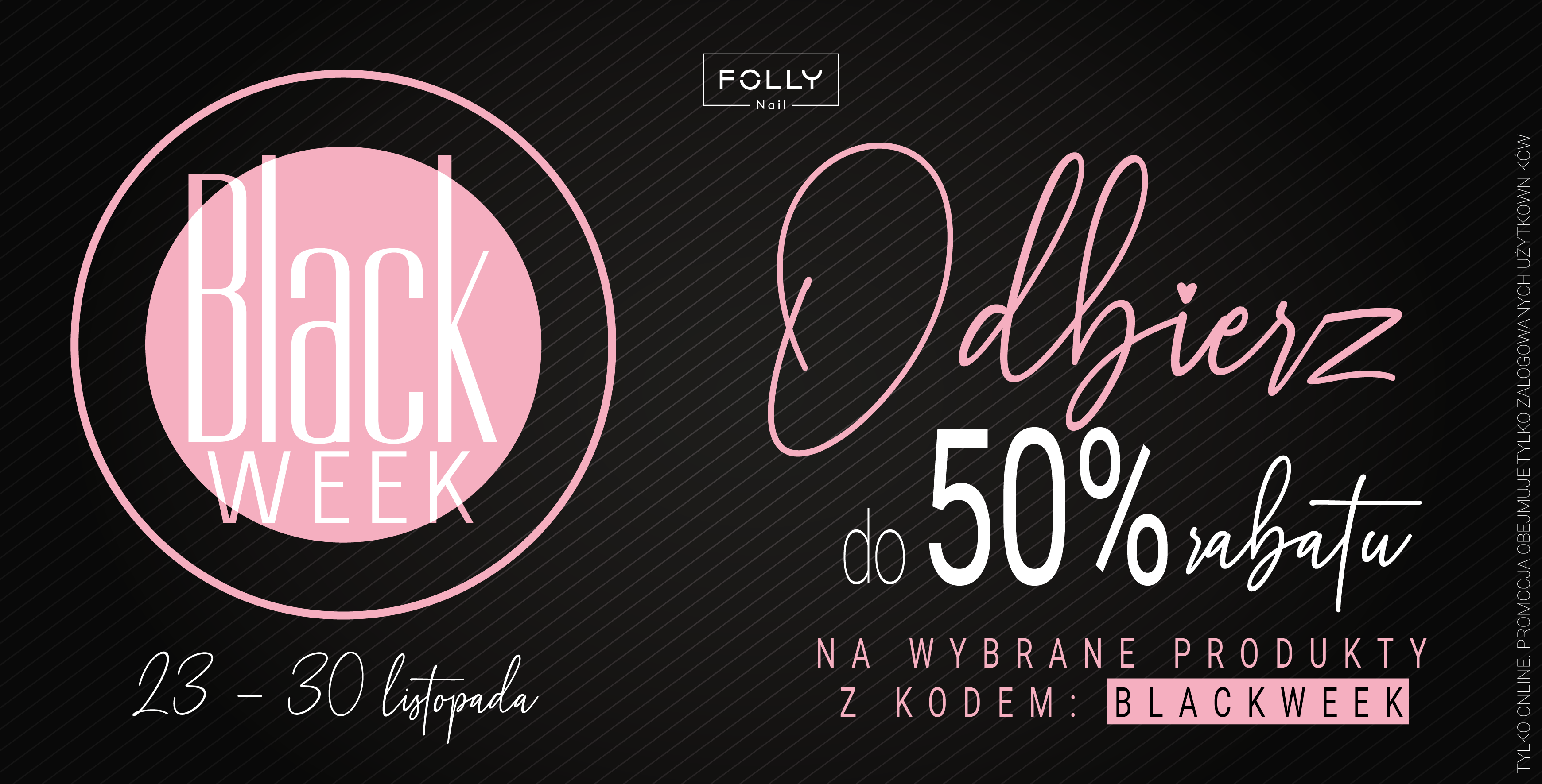 black friday black week follynail promocja rabat
