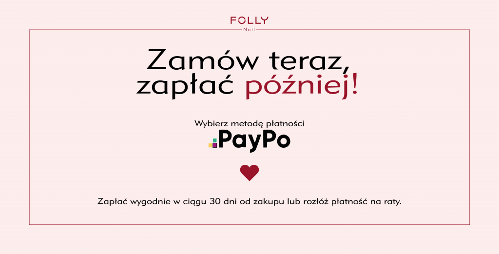 Płatność PayPo . Zrób zakupy teraz i zapłać później. Zakupy z odroczonym terminem.