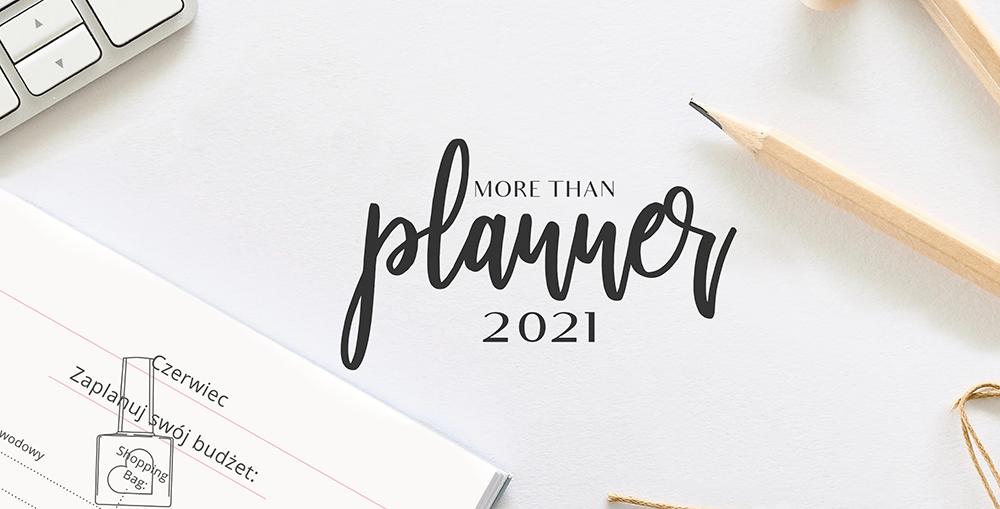 planner 2021 więcej niż kalendarz format b5 układ dzienny